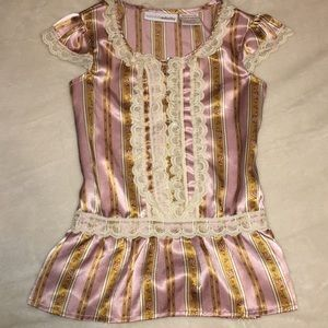 Mary Kate Ashley Olsen XS 4-5 year girl lace top